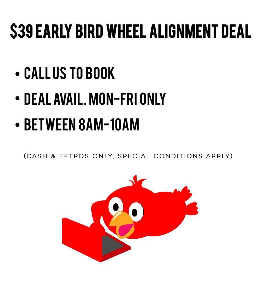 $39 early bird wheel alignment deal