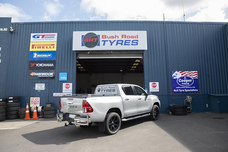 Bush Road Tyres Workshop front